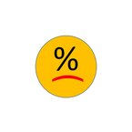 Unhappy percentage emoticon
